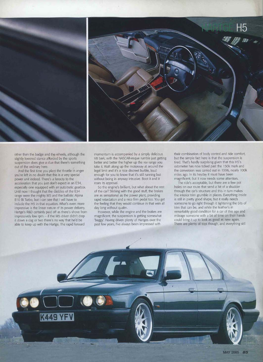 Editorial E34 H5 Hartge Bmwcar High Five May 2005