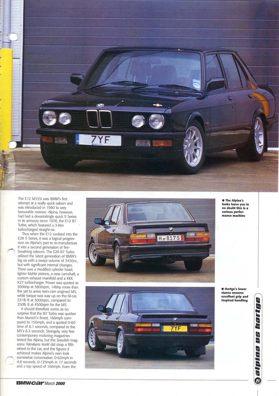 Editorial E28 M5 Hartge Bmwcar Greed Is Good March