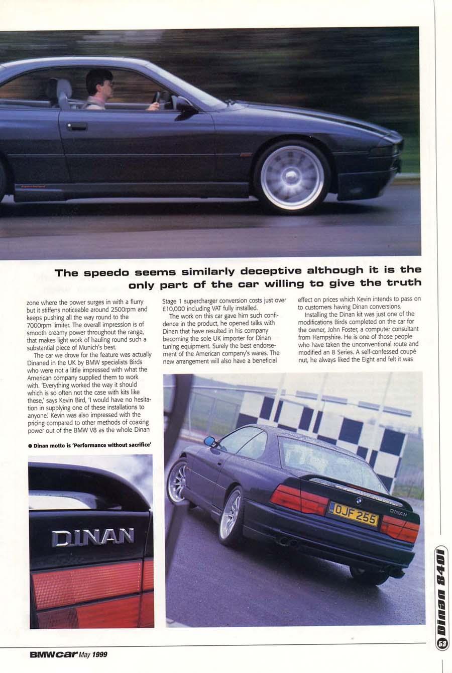 Editorial E31 840i Hartge And Dinan Bmwcar Hotair May 1999 Birds