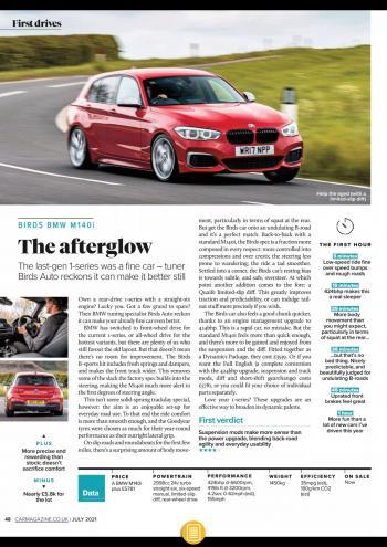 Editorial - Birds M140i - CAR Magazine - July 2021