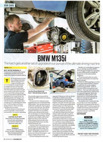 Editorial - F20 M135i Development pt 3 Quaife ATB LSD - Autocar Magazine - November 2017