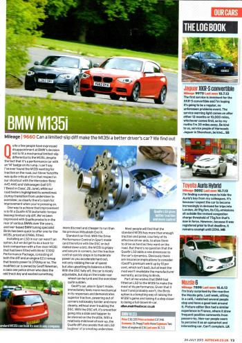 Editorial - F20/F21 M135i - Autocar - Quaife LSD - July 2013