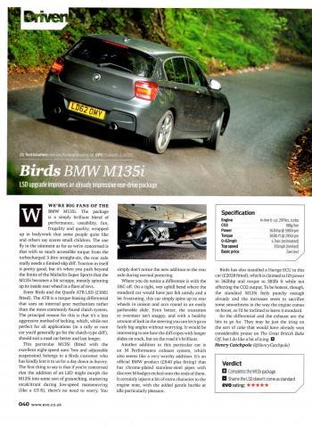 Editorial - F20/F21 M135i - EVO magazine - Quaife LSD - Nov 2013