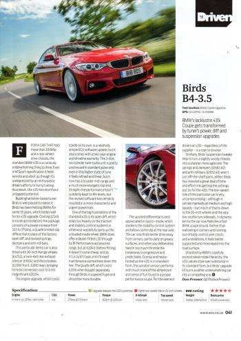 Editorial - EVO magazine - F32 435i upgrades and tuning - Sep 2015